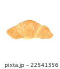 クロワッサン パン 水彩画のイラスト 22541356