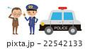 サラリーマンを注意する男性警察官(パトカーあり) 22542133