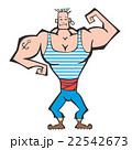 ベクトル 男性 ボディービルダーのイラスト 22542673