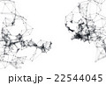 Abstract molecular structure on white background 22544045