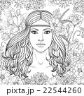 Girl with flowers contoured image. 22544260