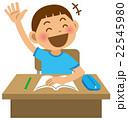 男の子 小学生 挙手のイラスト 22545980