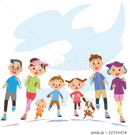 三世代家族でランニング 22554428