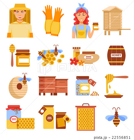 Honey Beekeeping Icon Set 22556851