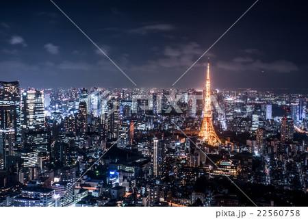 東京の夜景 東京シティビュー から 22560758