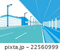 羽田空港第二ターミナル出発ロビー前道路 22560999