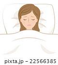 女性 睡眠 不眠のイラスト 22566385