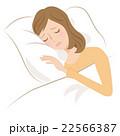女性 睡眠 不眠のイラスト 22566387