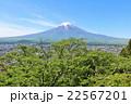 富士山 山 新緑の写真 22567201