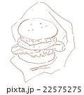 食べ物のイラスト(ハンバーガー) 22575275