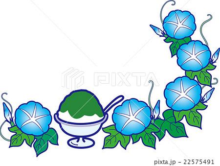 朝顔とかき氷抹茶 夏のスイーツ 22575491