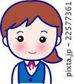 女性 笑顔 ビジネスウーマンのイラスト 22577361