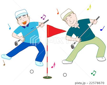 ゴルフを楽しむ老人 22578670