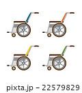 車椅子 セット ベクターのイラスト 22579829
