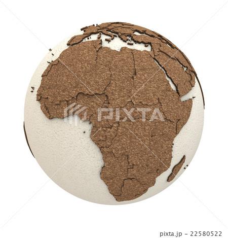 africa on light earthのイラスト素材 22580522 pixta