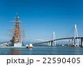 立山連峰がくっきり見える海王丸パークと新湊大橋 22590405