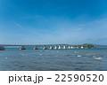 優美な形の能登島大橋 22590520