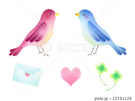 小鳥とアイテムセット 22591126