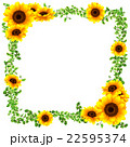向日葵 花 フレームのイラスト 22595374