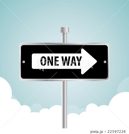 One way road sign advertising design, 22597226