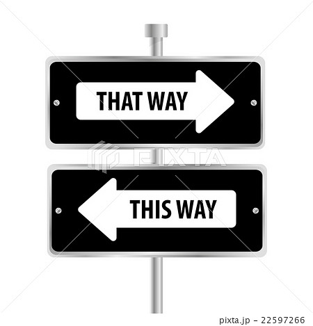 One way road sign advertising design, 22597266