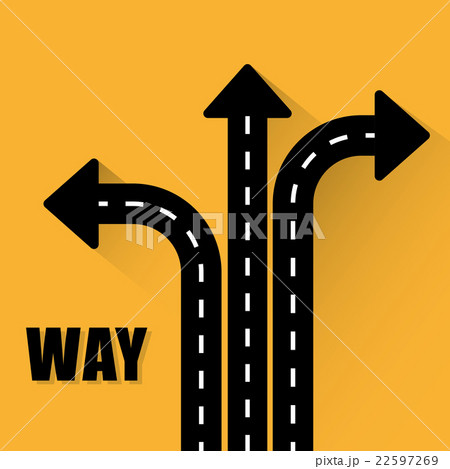 One way road sign advertising design, 22597269