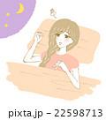 女性 不眠 不眠症のイラスト 22598713