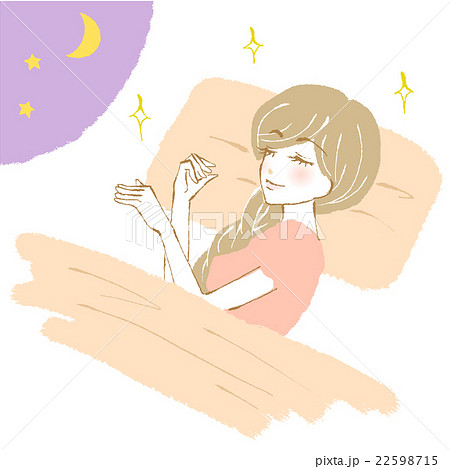 睡眠中の女性のイラスト 22598715