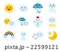 天気 イラスト アイコン  22599121