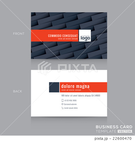 modern dark grey business card name card templateのイラスト素材