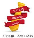 父の日 リボン ネクタイのイラスト 22611235