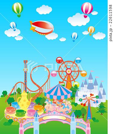 遊園地 青空のイラスト素材 22611598 Pixta