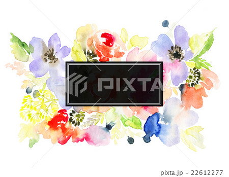 Greeting card with flowersのイラスト素材 [22612277] - PIXTA