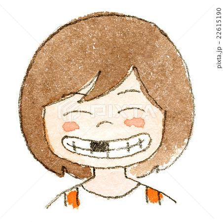 前歯乳歯の抜けた子どもの笑顔のイラスト素材 22615190 Pixta