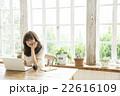 女性 ポートレート カフェの写真 22616109