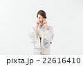 浴衣の女性(白背景) 22616410