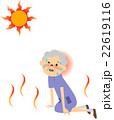 熱中症になりそうな高齢者 22619116