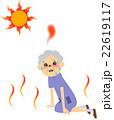 熱中症の高齢者 22619117