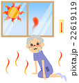 熱中症 人物 女性のイラスト 22619119