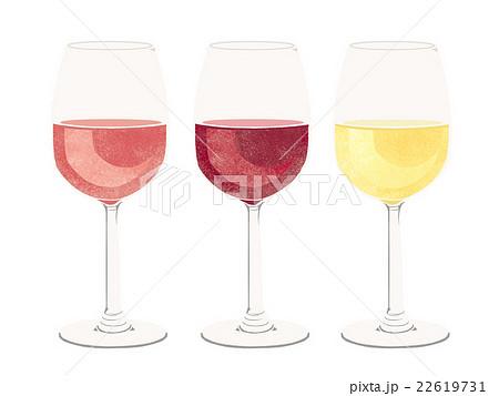 赤ワインと白ワインとロゼワイン 22619731