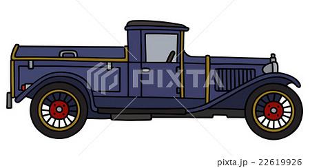Vintage blue dustcartのイラスト素材 [22619926] - PIXTA