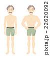 マッスル ビフォーアフター 男性のイラスト 22620092