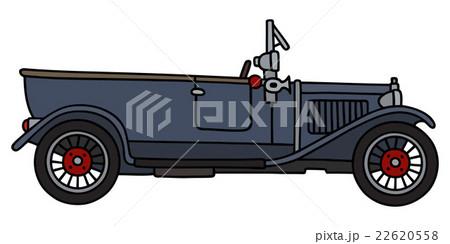 Vintage dark blue carのイラスト素材 [22620558] - PIXTA