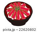 ステーキ丼 丼 料理のイラスト 22620802