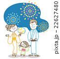 ベクター 花火 夏祭りのイラスト 22627480