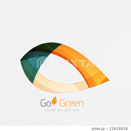 Green concept, geometric design eco leafのイラスト素材 [22629838] - PIXTA