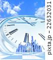 高層ビル街の時計 22632031