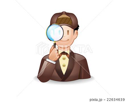 細部を調べる探偵 22634639