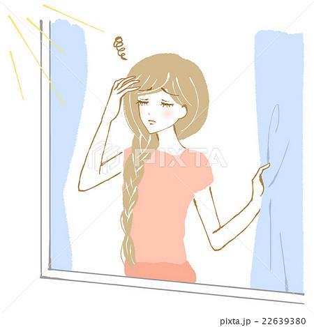 寝不足、不調の女性のイラスト 22639380