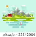 Flat design vector nature summer landscape 22642084